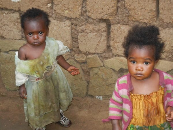 two children in Cameroon