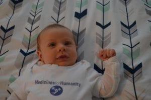 infant with MFH onesie