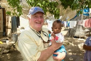 Tim with Haitian Baby